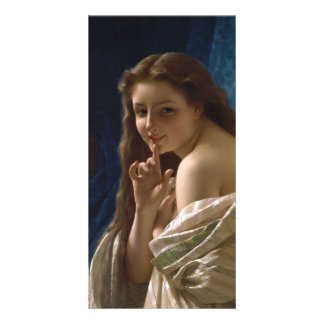 Portrait of a Young Woman by Pierre Auguste Cot Customized Photo Card