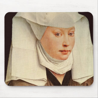Portrait of a Young Woman in a Pinned Hat, c.1435 Mouse Pad