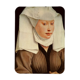 Portrait of a Young Woman in a Pinned Hat, c.1435 Rectangular Photo Magnet