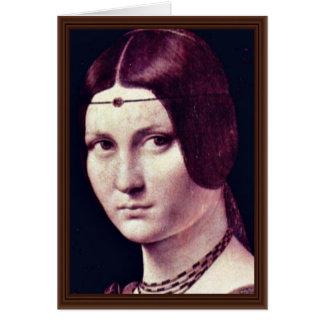 Portrait Of A Young Woman (La Belle Ferronière) By Card
