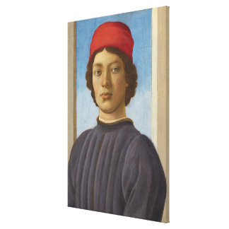Portrait of a Youth, c.1485 (oil & tempera) Stretched Canvas Prints