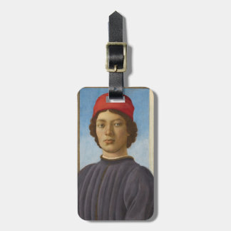 Portrait of a Youth, c.1485 (oil & tempera) Luggage Tags