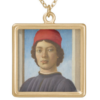 Portrait of a Youth, c.1485 (oil & tempera) Necklace