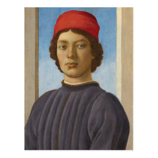 Portrait of a Youth, c.1485 (oil & tempera) Postcard