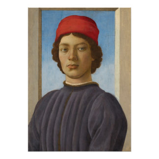Portrait of a Youth, c.1485 (oil & tempera) Poster