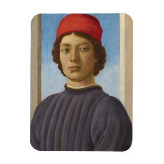 Portrait of a Youth, c.1485 (oil & tempera) Rectangular Photo Magnet