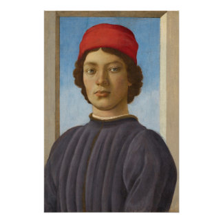 Portrait of a Youth, c.1485 (oil & tempera) Perfect Poster