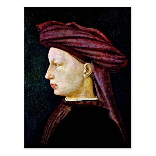 Portrait of a youth in profile by Masaccio Post Card