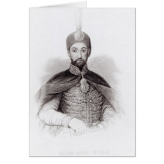 Portrait of Abdulmecit Card