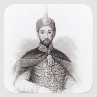 Portrait of Abdulmecit Square Sticker