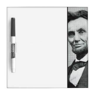 Portrait of Abe Lincoln 1 Dry Erase Board