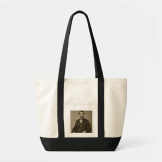 Portrait of Abraham Lincoln (1809-65) (b/w photo)
