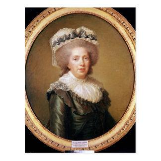 Portrait of Adelaide de France  1791 Postcard