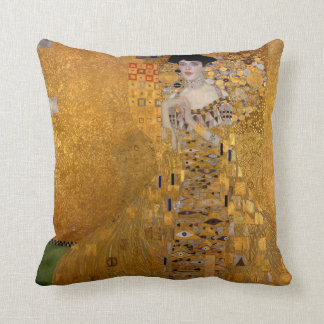 Portrait of Adele Bloch-Bauer by Klimt Throw Pillow