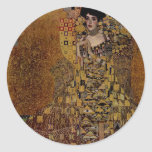Portrait of Adele Bloch-Bauer I Round Stickers