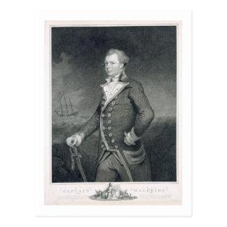 Portrait of Admiral John Macbride (d.1800) engrave Postcard