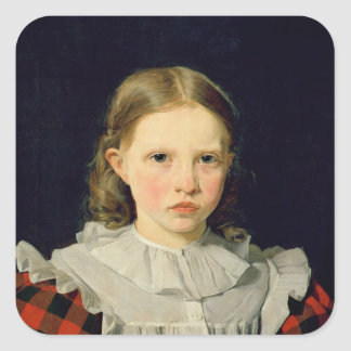 Portrait of Adolphine Kobke  19th June 1832 Square Sticker