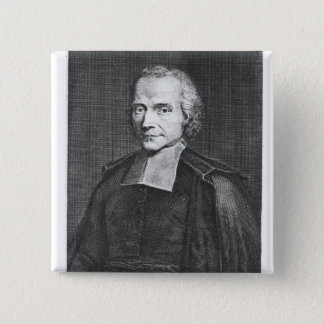 Portrait of Adrien Baillet 2 Inch Square Button