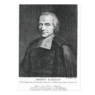 Portrait of Adrien Baillet Postcard
