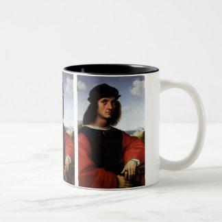 Portrait of Agnolo Doni by Raphael Sanzio Two-Tone Coffee Mug
