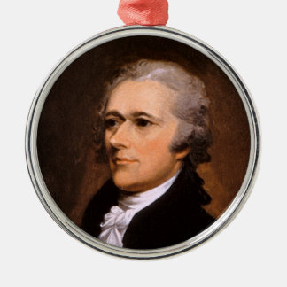 Portrait of Alexander Hamilton by John Trumbull Silver-Colored Round Ornament