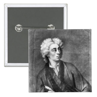 Portrait of Alexander Pope 2 Inch Square Button