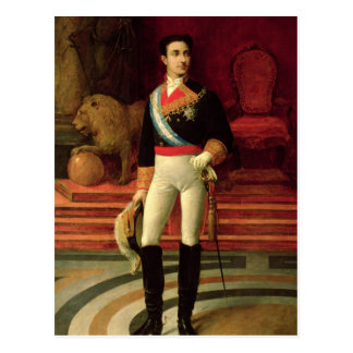 Portrait of Alfonso XII  1876 Postcard