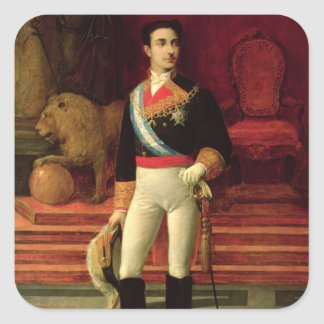 Portrait of Alfonso XII  1876 Square Sticker