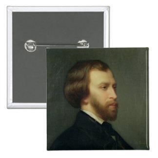 Portrait of Alfred de Musset 2 Inch Square Button