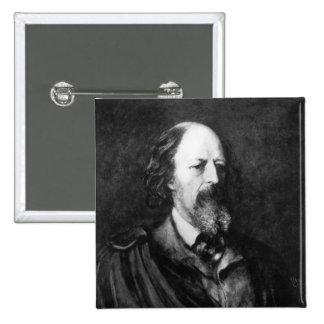 Portrait of Alfred, Lord Tennyson  c.1860s 2 Inch Square Button