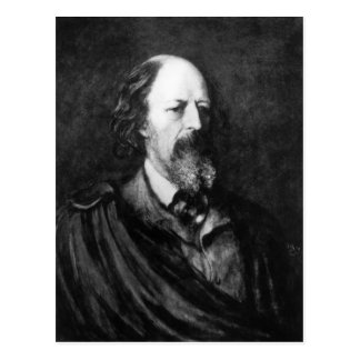 Portrait of Alfred, Lord Tennyson  c.1860s Postcard