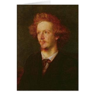 Portrait of Algernon Charles Swinburne  1867 Greeting Cards