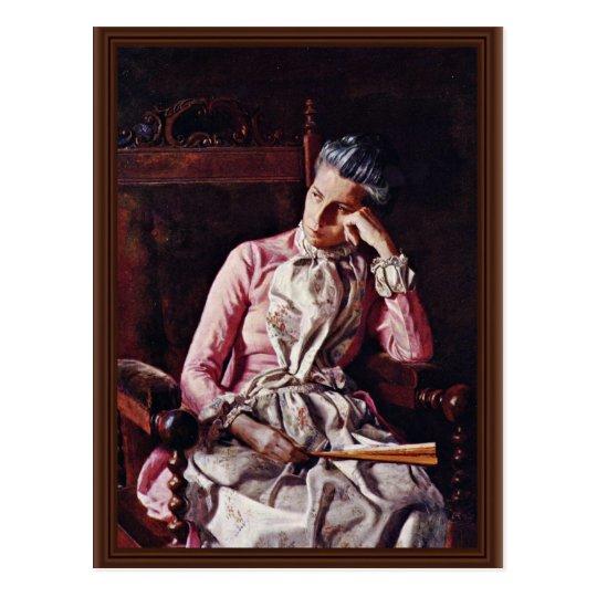 Portrait Of Amelia Van Buren By Thomas Eakins ( Postcard