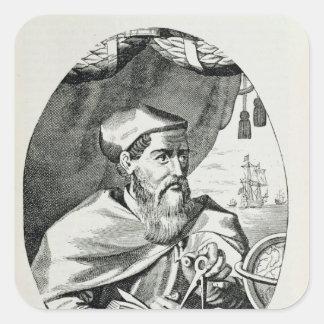 Portrait of Amerigo Vespucci Square Sticker
