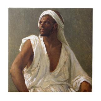 Portrait of an arab tile
