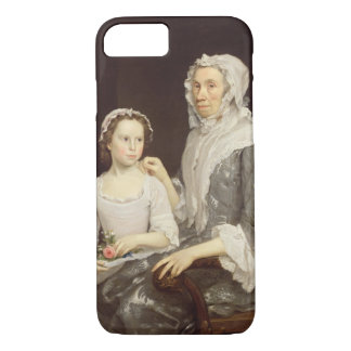 Portrait of an Elderly Lady and a Young Girl (oil iPhone 7 Case