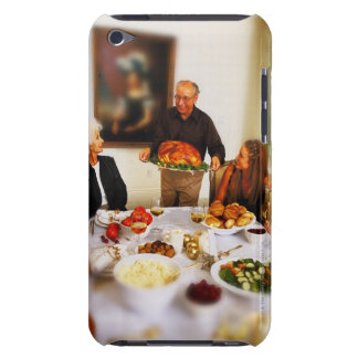 portrait of an elderly man holding a roast barely there iPod covers