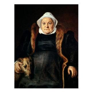 Portrait of an Elderly Woman Postcard