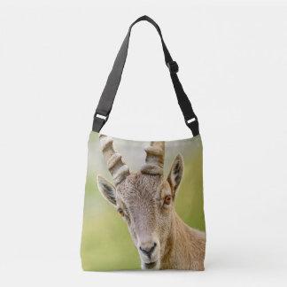 Portrait of an ibex crossbody bag