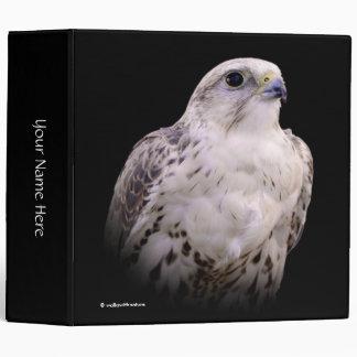 Portrait of an Inquisitive Saker Falcon Vinyl Binder