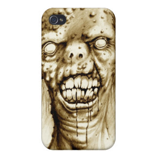 portrait of an irradiated zombie with a cleft lip cover for iPhone 4