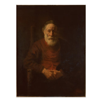 Portrait of an Old Man in Red Poster