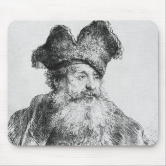 Portrait of an old man mouse pad