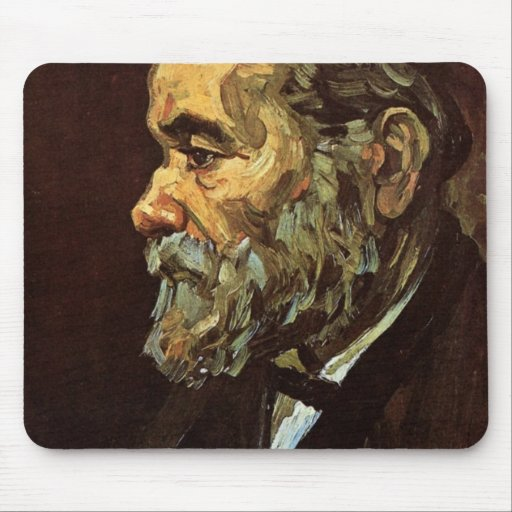 Portrait of an Old Man with Beard by van Gogh Mousepad