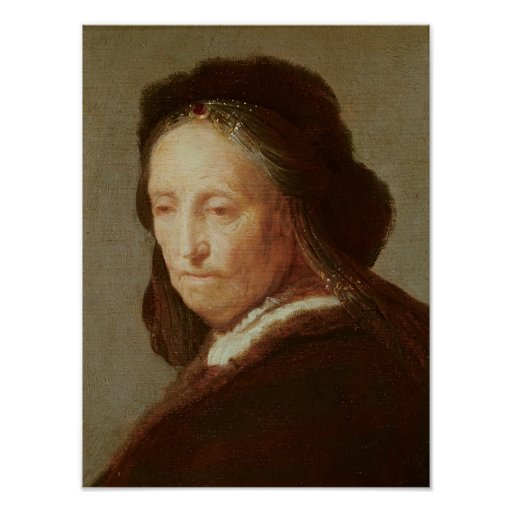 Portrait of an old Woman, c.1600-1700 Print