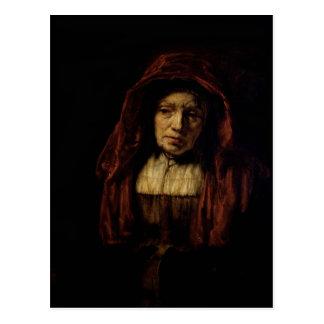 Portrait of an Old Woman Postcard