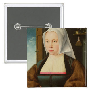 Portrait of an Unknown Lady 1527 oil on panel Pinback Buttons