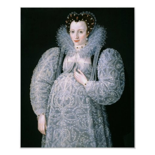 Portrait of an Unknown Lady, c.1595 Poster