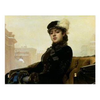 Portrait of an Unknown Woman, 1883 Postcard
