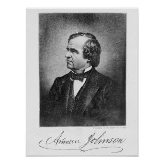 Portrait of Andrew Johnson Poster